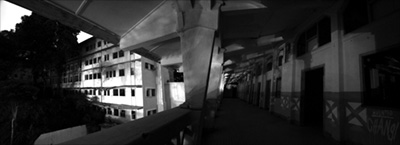 Inside Old Changi Hospital panorama