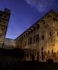 Old Changi Hospital at night